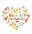Back to school colorful composition vector image vector image