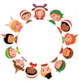 Children in the costume of Christmas vector image vector image