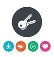 Keys sign icon Unlock tool symbol vector image