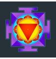 colored Tara yantra vector image