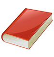 Textbook with red covers vector image