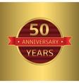 Anniversary 50 years vector image