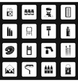Artist studio icons set simple style vector image