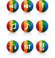 Audio buttons vector image
