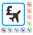 aviation pound business framed icon vector image