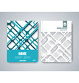 Brochure title sheet polygonal stripe construction vector image