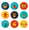 flat icons of martial arts vector image