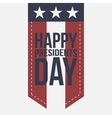 Happy Presidents Day vintage Label with Text vector image