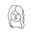 Line avatar woman head with hairstyle design vector image