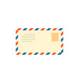 post mail letter with stamp vector image