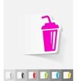 realistic design element glass beverage vector image