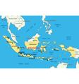 Republic of Indonesia - map vector image
