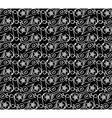 Seamless pattern black white vector image
