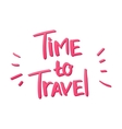 Tme to Travel vector image