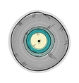 long play disc vector image