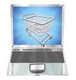 internet shopping laptop concept vector image