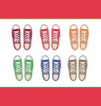 shoes top view vector image