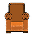 comfortable couch isolated icon vector image