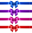 Festive bows with glitter and ribbons vector image
