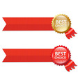 Best Choice Labels With Ribbons vector image