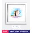 Famous Arc de Triomphe in Paris France vector image