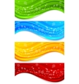 set of banners with circle vector image vector image