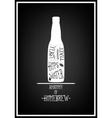 Typographical Background Vintage beer emblem vector image