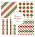 Set of simple retro geometric Christmas patterns vector image