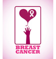 breast cancer design vector image