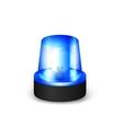 Blue flashing siren vector image vector image