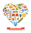 Love Summer Concept vector image