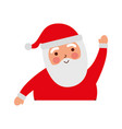 christmas portrait happy santa claus character vector image