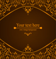 Design background with ornate floral pattern vector image
