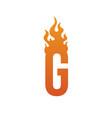 Fire burn initial letter alphabet vector image