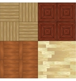 set of seamless wooden backgrounds vector image