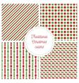 Set of simple retro geometric Christmas patterns vector image