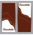 Set of vertical banners with chocolate flow vector image