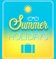 summer holidays typographic design vector image