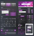 UI kit responsive web design Icons template mockup vector image