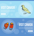Visit canada travel company landing page template vector image