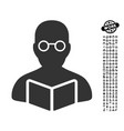 student icon with professional bonus vector image