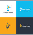 Music and video vector image