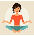 young cute girl practice yoga vector image vector image