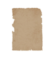 Torn sheet old paper vector image vector image