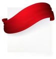red ribbon banner  drawing vector image