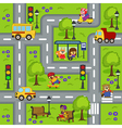seamless pattern with roads vector image
