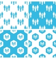 Work group patterns set vector image