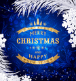 Blue Christmas background with silver snowflakesan vector image vector image