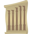antique columns vector image