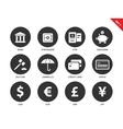 Banking and business icons on white background vector image